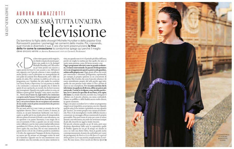 Aurora Ramazzotti Magazine Grazia Italia Milano