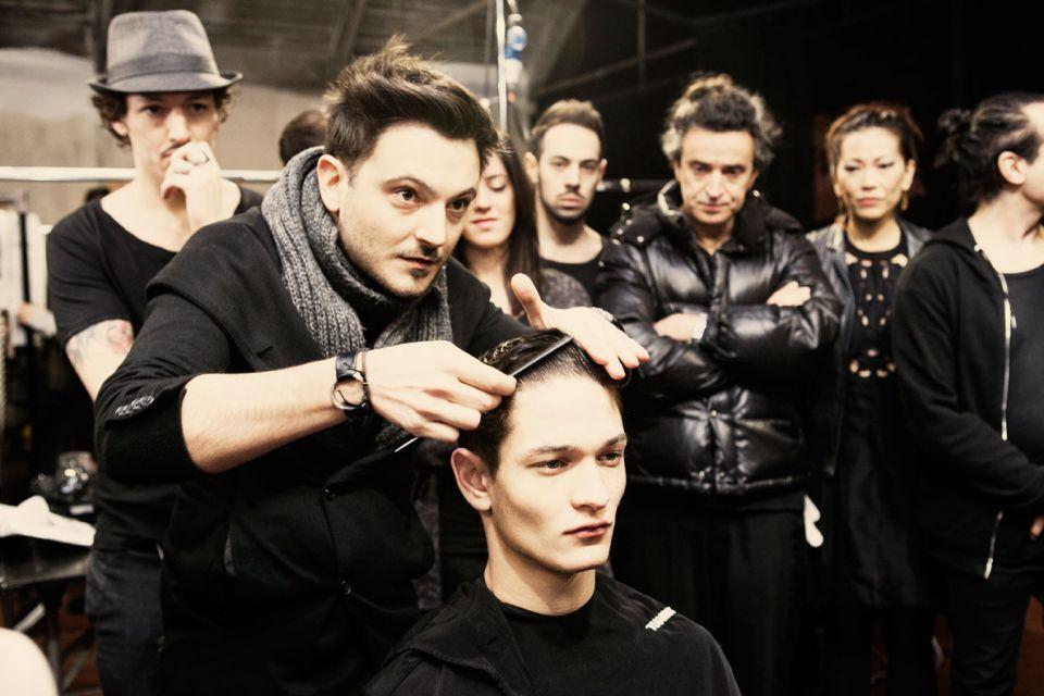 Reportage backstage Milan fashion men's week - Milano moda uomo: Antonio Marras Fall/Winter 2015 per Toni&Guy Label