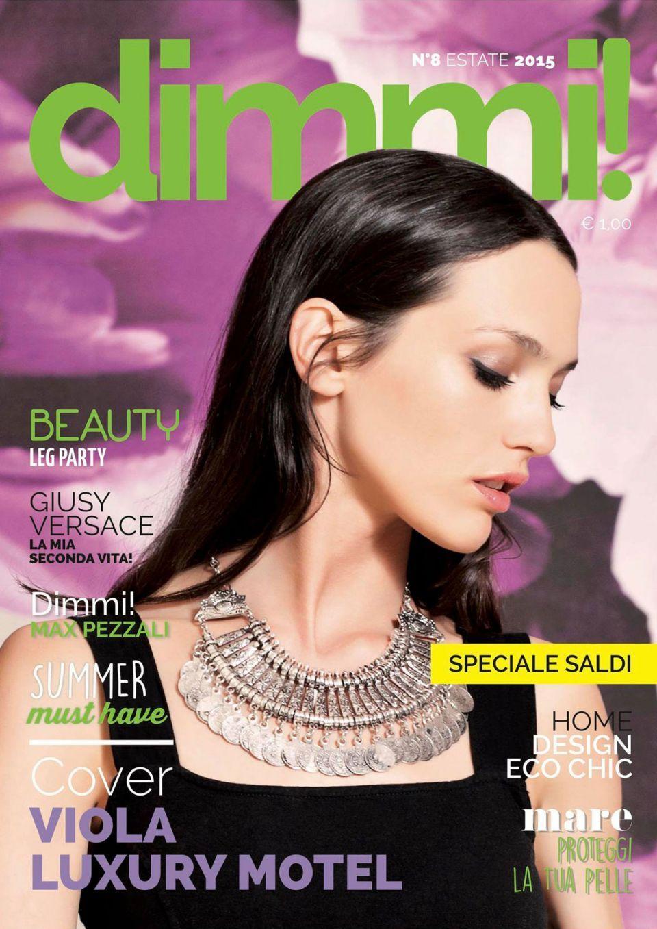 Cover magazine dimmi estate Bergamo