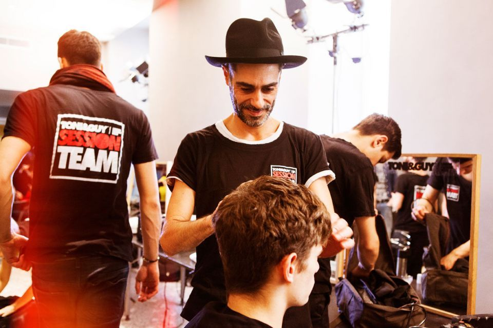 Reportage backstage Milan fashion men's week - Milano moda uomo: N21 Fall/Winter 2015 per Toni&Guy Label
