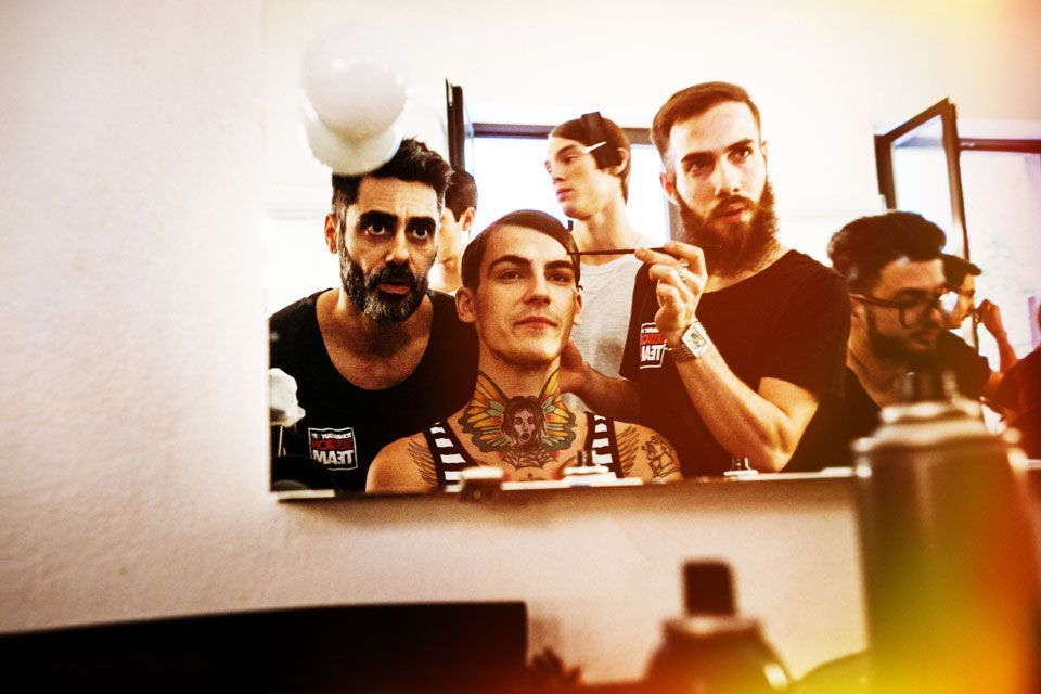 reportage backstage sfilata fashion show Marangoni 2014 per Toni&Guy Label