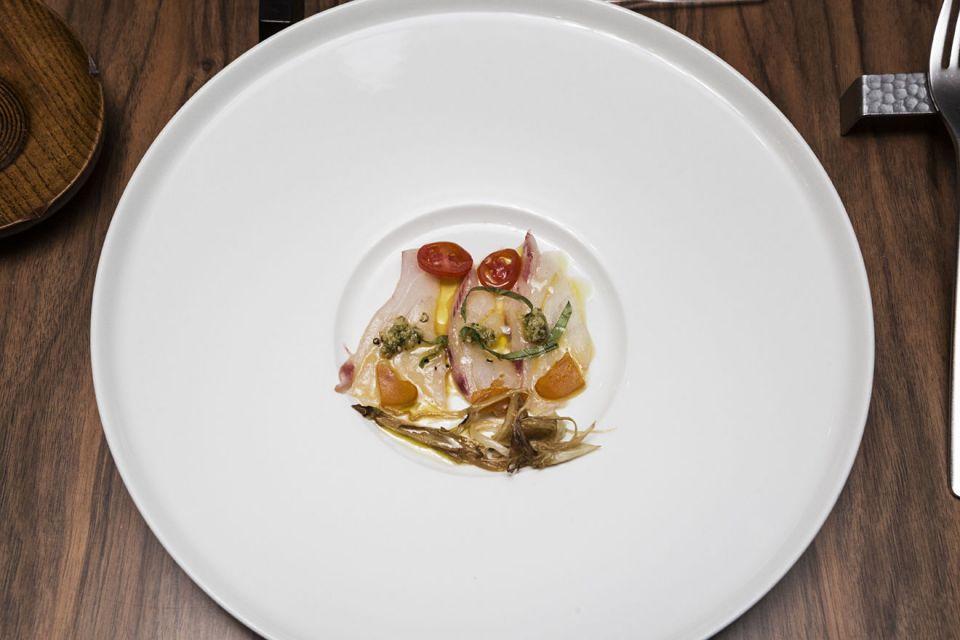 Still-life di piatti per l'alta ristorazione