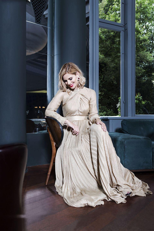 Shooting Vanity Fair Filippa Lagerback Hi Gloss Bionic Blonde L'Oreal Paris di Toni&Guy Milano