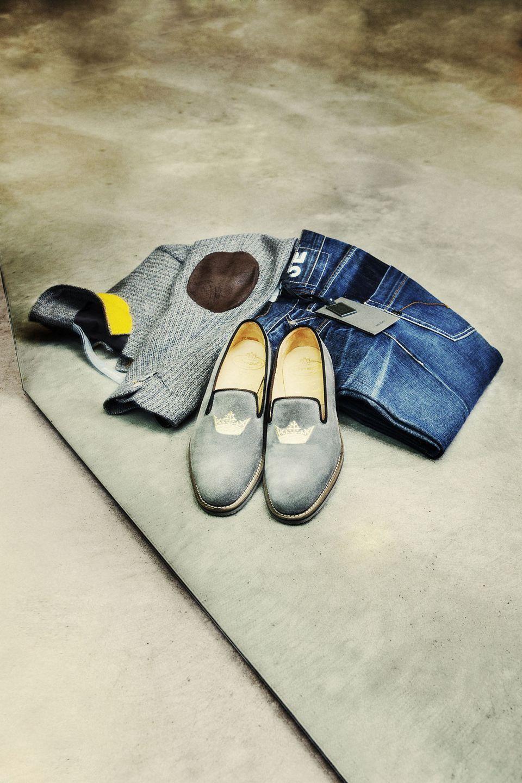 foto Still-life accessori scarpe shoes borsa jaket street casual fashion Bergamo jeans