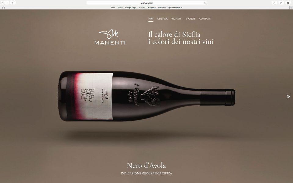 Foto di bottiglie per azienda vinicola